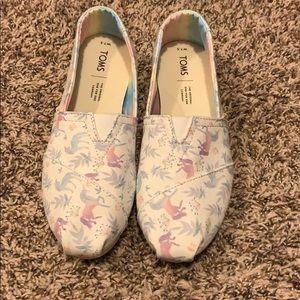 Brand new unicorn pastel watercolor Toms